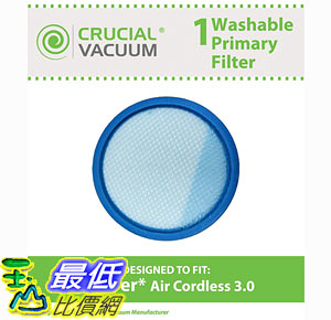 [106美國直購] 濾網 Hoover Air Cordless 3.0 BH50140 Washable Reusable Pre Filter Designed Engineered by Crucial Vacuum
