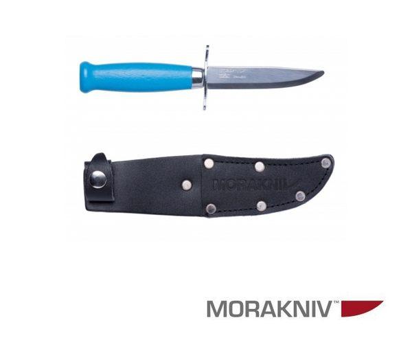 丹大戶外用品【MORAKNIV】瑞典 CLASSIC SCOUT 39 SAFE 經典木柄不鏽鋼短直刀 藍 12021