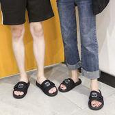 拖鞋 拖鞋男夏時尚外穿韓版潮軟底室外沙灘涼拖防滑一字拖 1色36-44