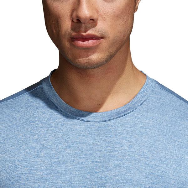 Adidas Freelift Textured 男 藍 短袖 上衣 訓練上衣 Climalite 短T 運動 慢跑 健身 CE0851