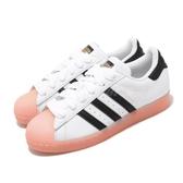 adidas 休閒鞋 Superstar W 白 黑 粉 女鞋 果凍底 貝殼頭 運動鞋 【ACS】 FW3553