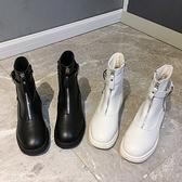 馬丁靴女2020新款英倫風百搭年秋季潮網紅粗跟中跟切爾西短靴