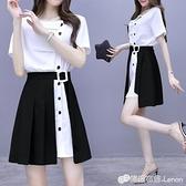 夏季女裝新款氣質襯衫洋裝子職業輕熟兩件套裝法式顯瘦時尚
