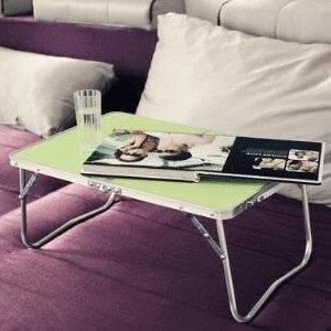 ♥巨安網購♥【S106121907】鋁合金 輕便多功能摺疊電腦桌小露營桌