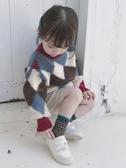 店長推薦 2018女童裝冬裝新款格子韓版兒童套頭毛衣女寶寶厚實線衫秋冬款