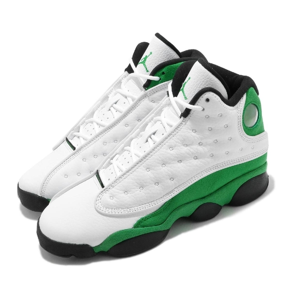 Air Jordan 13 Retro GS 白 綠 女鞋 大童鞋 喬丹 13代 XIII Ray Allen 【ACS】 DB6536-113