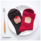 Catworld 杯子蛋糕棉質長襪【18900131】‧F