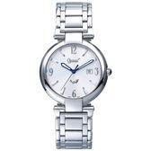 Ogival 瑞士愛其華  浪漫饗宴簡約時尚石英腕錶 40mm-兩色可選