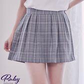 褲裙 文青風格紋後鬆緊褲裙-Ruby s 露比午茶