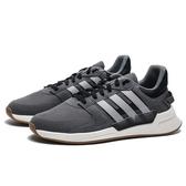 ADIDAS NEO RUN90S 灰 銀LOGO 麂皮 復古 休閒鞋 男 (布魯克林) EF0193