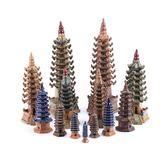 水草 魚缸造景園林沙盤模型盆景假山微景觀擺件裝飾陶瓷工藝品六角寶塔-小精靈生活館