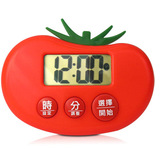 【CATIGA】歡樂果漾-大字幕電子計時器-番茄紅