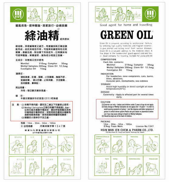 綠油精 Green Oil 5g