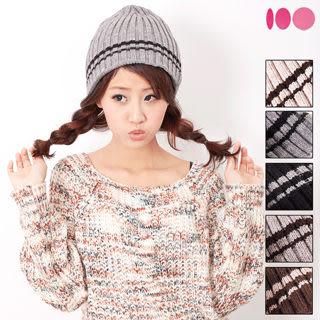 【MIT台灣製】台灣製 雙層扁帽+發熱紗 針織毛線帽