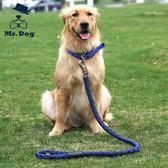中型大型犬金毛薩摩耶德牧大狗狗遛狗繩子項圈狗鍊子牽引繩帶用品