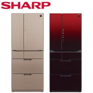 【SHARP 夏普】日本原裝601L變頻六門冰箱 SJ-GF60BT-T