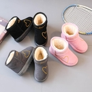 女童靴子2019秋冬兒童棉鞋男寶寶短靴加絨童鞋公主雪地靴防水防滑    依夏嚴選