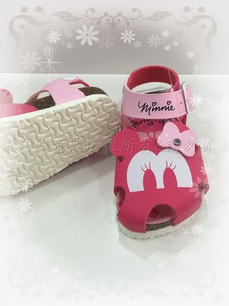 ☆╮寶貝丹童裝╭☆正版 台灣授權 迪士尼 米奇 大眼睛 造型 歐風 兒童 氣墊 涼鞋 新款 現貨