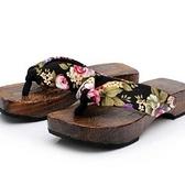 木屐-休閒舒適低跟女夾腳拖鞋68i42[時尚巴黎]