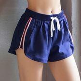 瑜珈褲(短褲)-戶外慢跑側拉鍊雙層女健身褲2色73ob5【時尚巴黎】