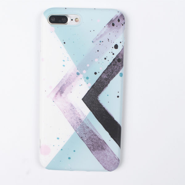 【SZ24】  iPhone7/8 手機殼 創意水墨幾何  磨山全包防摔  iPhone7/8 plus 保護套