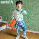 [Bebezoo]正韓童裝男寶寶韓版外出服可愛動物套裝時尚兩件套