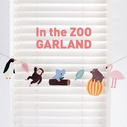 【發現。好貨】韓國In the ZOO GARLAND動物園旗幟三角旗派對裝飾生日聖誕卡片 野餐派對嬰兒房佈置