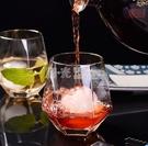 酒杯 威士忌酒杯ins風金邊玻璃杯子家用透明洋酒杯啤酒杯網紅酒具套裝 NMS陽光好物