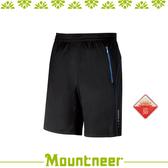 【Mountneer 山林 中性透氣排汗針織短褲《黑色》】31S55-01/抗UV/UPF50+/吸濕排汗/透氣/休閒