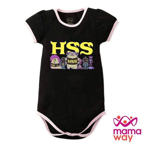 【mamaway媽媽餵】迪士尼怪獸電力公司包屁衣 短袖包屁衣 寶寶服