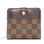 LOUIS VUITTON LV 路易威登 棋盤格釦式短夾 Compact Zip N61668【BRAND OFF】