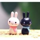 CARMO情侶圍巾兔兔多肉微景觀公仔(2入組) 暖心【A003006】