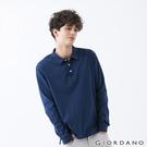 【GIORDANO】男裝素色落肩POLO衫 - 03 深藍