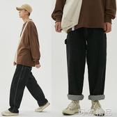 牛仔褲江南先生20夏季 復古寬鬆闊腿滑板褲老爹褲男直筒工裝牛仔褲 雙十二全館免運