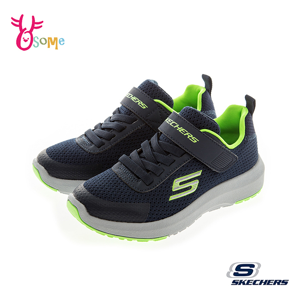 Skechers 中大童 DYNAMIC TREAD 記憶鞋墊 運動鞋 慢跑鞋 S8282#藍綠◆OSOME奧森鞋業