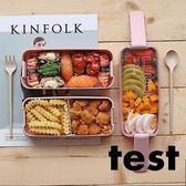 飯盒 日式學生少女心飯盒便當盒分隔型微波爐水果沙拉上班族輕食餐盒 3色