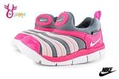 NIKE DYNAMO FREE (TD) 小童 毛毛蟲鞋 寶寶運動鞋 O7284#灰粉◆OSOME奧森鞋業