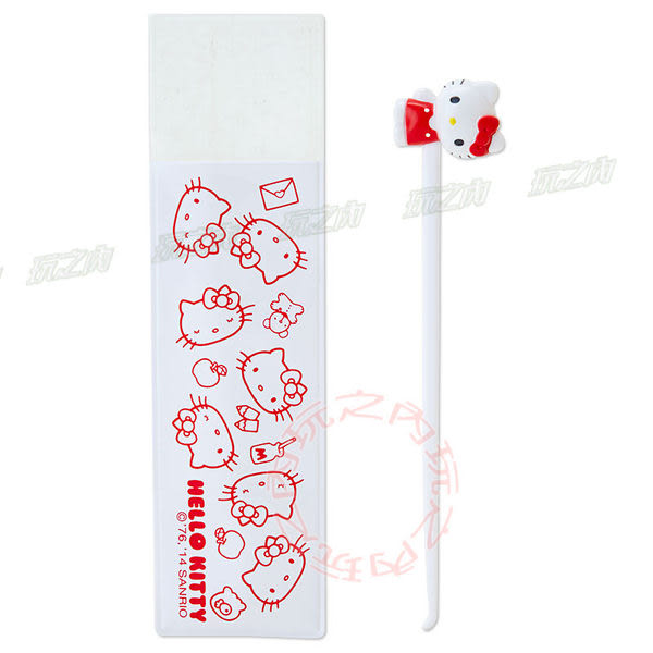 Hello Kitty造型掏耳棒 挖耳棒附收納袋906774【玩之內】 日本進口