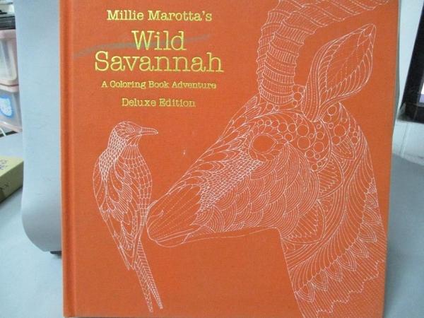 【書寶二手書T2/少年童書_ZDG】Millie Marotta's Wild Savannah: A Coloring