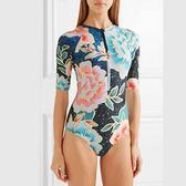 泳衣比基尼LET'S SEA連身泳衣 兩截式泳衣衝浪服