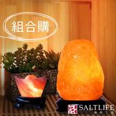 【鹽夢工場】鹽燈兩入組(玫瑰2-4kg|USB小元寶)