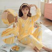哺乳期睡衣春夏季喂奶套裝長袖薄款產后大碼月子服  LQ4621『miss洛羽』