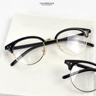 鏡框 復古金圓型半框平光眼鏡NY468