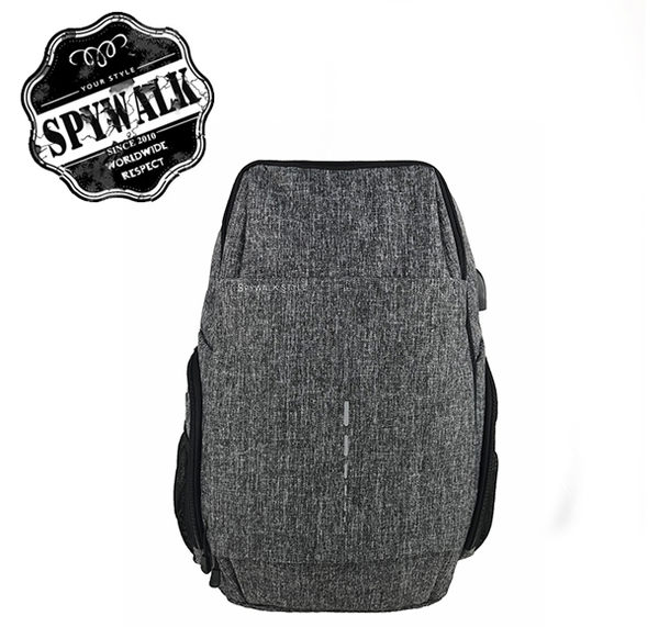 SPYWALK新款後背包,附雙頭耳機孔和USB充電孔,行李箱固定帶NO:S8241