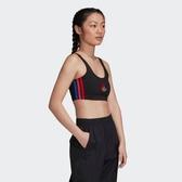 J- adidas ORIGINALS ADICOLOR 3D 背心 短版 女款 黑 撞色 三葉草 休閒 運動 透氣 GD2354