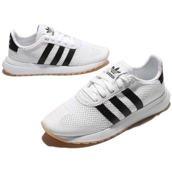 adidas 休閒慢跑鞋 FLB W 白 黑 李聖經 Flashback 網布 膠底 復古款 女鞋【PUMP306】 BA7760