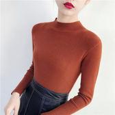 打底衫半高領套頭素t包芯紗毛衣長袖針織衫C13-806