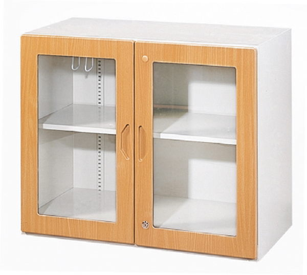 【 IS空間美學】鋼木玻璃二層式(2種款式可選)