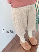 兒童棉褲 女童褲子小童冬裝兒童洋氣加厚棉褲兒童羊羔毛加絨褲外穿秋冬【快速出貨】
