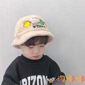 嬰兒帽子秋冬羊羔毛兒童盆帽嬰幼兒寶寶保暖漁夫帽潮【淘嘟嘟】